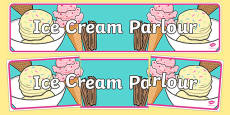 Ice Cream Parlour Display Banner