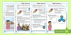 KS1 Fidget Spinners Differentiated Fact File