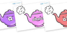 100 High Frequency Words on Teapots