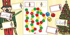 The Nutcracker Themed Editable Board Game