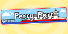 Ferry Port Role Play Banner