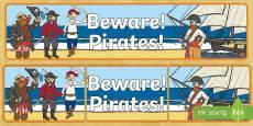 Beware Pirates Display Banner