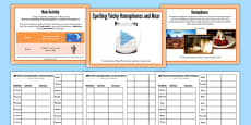 Spelling Tricky Homophones and Near Homophones Lesson Pack