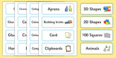 Classroom Resource Labels (Blue)