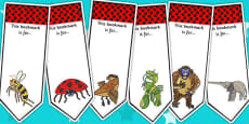 Editable Bookmarks to Support Teaching on The Bad Tempered Ladybird