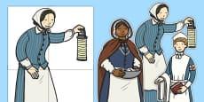 Nurturing Nurses Florence Nightingale Large Display Cut Outs