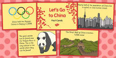 Let's Go to China Fact Cards