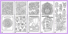 Adult Colouring Mindfulness Sheets Bumper Pack