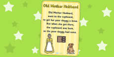 Old Mother Hubbard Nursery Rhyme Poster