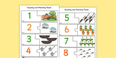 Garden-Themed Counting Matching Puzzle