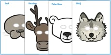 Polar Region Role Play Masks