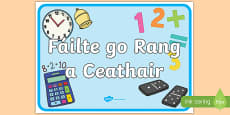 Welcome to Fourth Class Display Poster Gaeilge