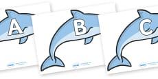 A-Z Alphabet on Dolphins