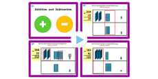 Year 3 Additon and Subtraction Lesson 4a Subtracting 2 Digit Numbers from 3 Digit Numbers (No Exchanging) PowerPoint