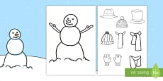 Snowman Clothes Activity
