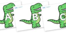 A-Z Alphabet on T Rex Dinosaurs