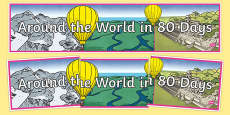 Around The World In 80 Days Display Banner