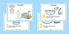 Pancake Recipe Sheets With Measurements Polish Translation