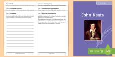 John Keats Poet Study Pack