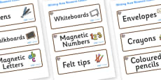 Squirrel Themed Editable Writing Area Resource Labels