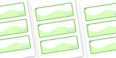 Acacia Themed Editable Drawer-Peg-Name Labels (Colourful)