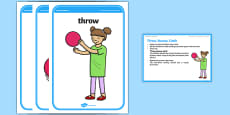 Foundation PE (Reception) Throw Bounce Catch Cool-Down Activity Card
