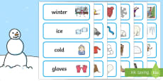 Winter Topic Word Cards