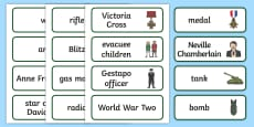 World War Two Word Cards