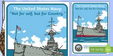 USA Navy Display Poster