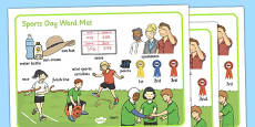 Sports Day Word Mat