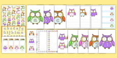Cute Owl Rainbow Themed Classroom Display and Stationery Pack