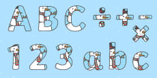 Snowman Themed Display Letters and Numbers Pack
