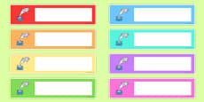 Editable Drawer - Peg - Name Labels (Dolphins)