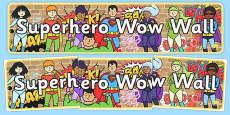 Superhero Wow Wall Display Banner