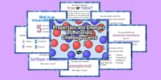 Properties and Changes of Materials Challenge Cards