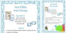 Iced Edible Paint Recipe