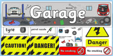 Mechanics/Garage Role Play Pack