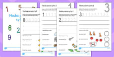 Number Formation Workbook Polish
