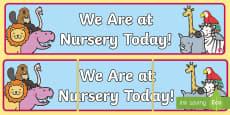 Self Registration Banner Animals Nursery