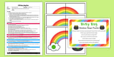 Rainbow Shape Puzzle EYFS Busy Bag Plan and Resource Pack