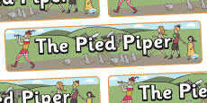 The Pied Piper Display Banner