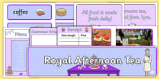 Royal Afternoon Tea Role Play Pack