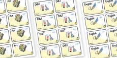 Marula Themed Editable Book Labels