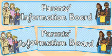 Parents Information Board Banner