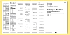 Second Level Assessment Numeracy and Mathematics Number Money and Measure Number