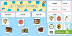 2D Shape Sorting Interactive Display Pack