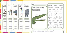 Description Writing Frame to Support Teaching on The Enormous Crocodile