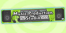 Music Production Studio Role Play Banner