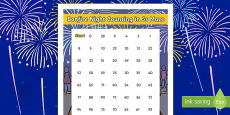 Bonfire Night Counting in 5s Maze Activity Sheet