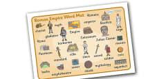 Roman Empire Word Mat